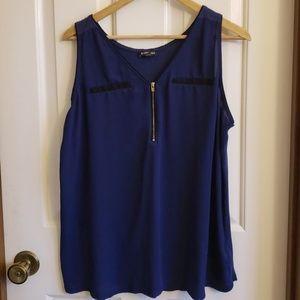 Express blue top